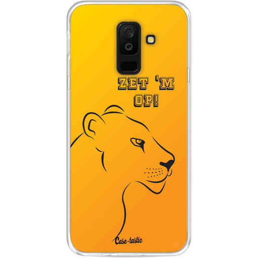 Casetastic Softcover Samsung Galaxy A6 Plus (2018) - Oranje Leeuwinnen,  zet 'm op!