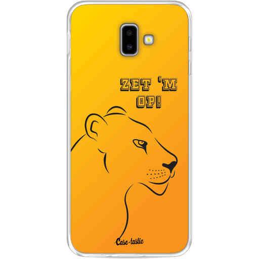 Casetastic Softcover Samsung Galaxy J6 Plus (2018) - Oranje Leeuwinnen,  zet 'm op!