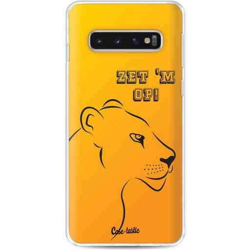 Casetastic Softcover Samsung Galaxy S10 - Oranje Leeuwinnen,  zet 'm op!