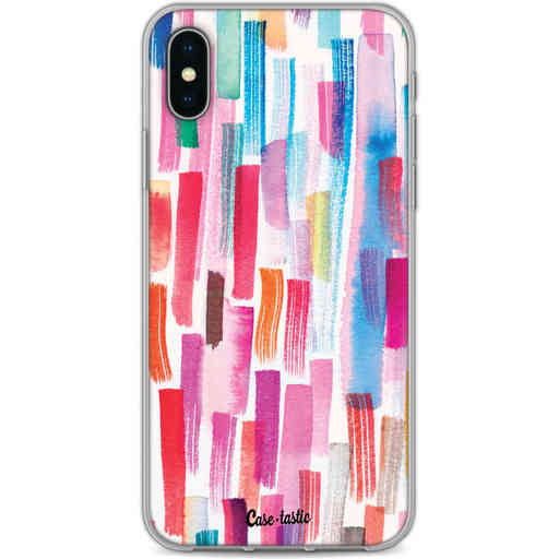 Casetastic Softcover Apple iPhone X / XS - Colorful Strokes