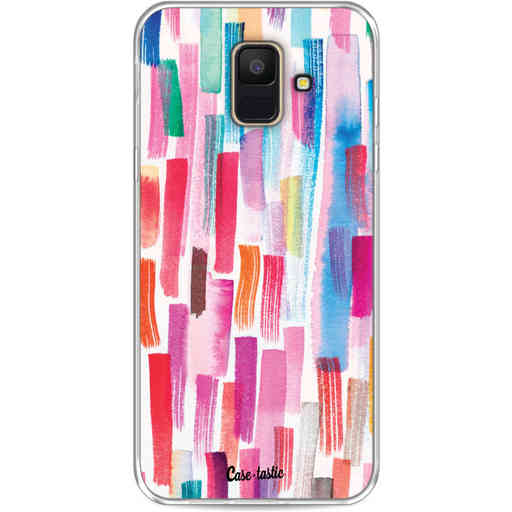 Casetastic Softcover Samsung Galaxy A6 (2018) - Colorful Strokes