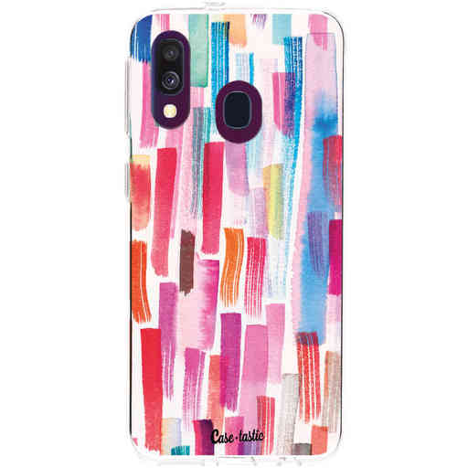 Casetastic Softcover Samsung Galaxy A40 (2019) - Colorful Strokes