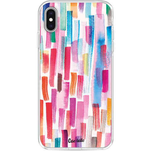 Casetastic Softcover Apple iPhone XS Max - Colorful Strokes