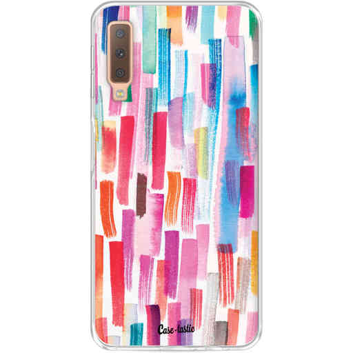 Casetastic Softcover Samsung Galaxy A7 (2018) - Colorful Strokes