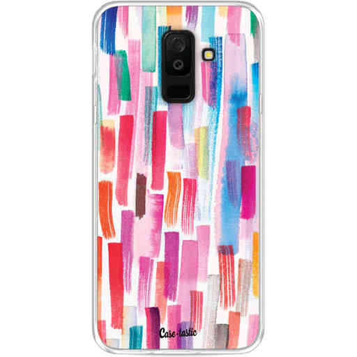 Casetastic Softcover Samsung Galaxy A6 Plus (2018) - Colorful Strokes