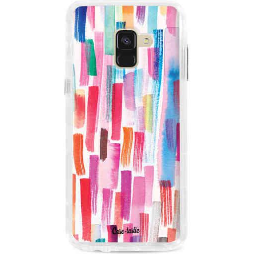 Casetastic Dual Snap Case Samsung Galaxy A8 (2018) - Colorful Strokes
