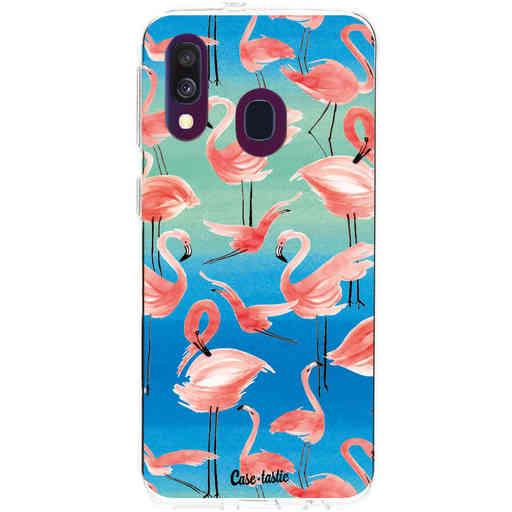Casetastic Softcover Samsung Galaxy A40 (2019) - Flamingo Vibe
