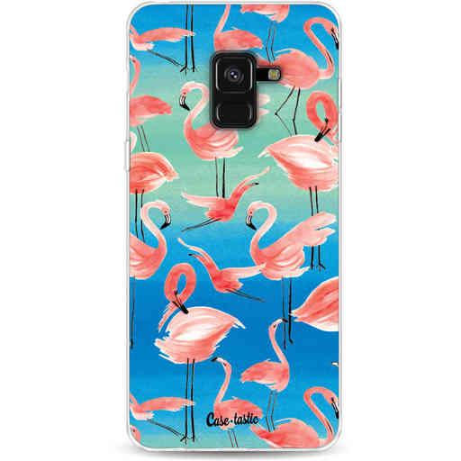 Casetastic Softcover Samsung Galaxy A8 (2018) - Flamingo Vibe