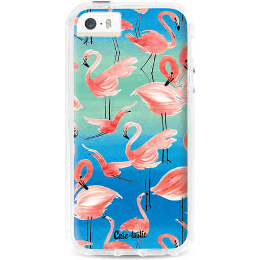 Casetastic Dual Snap Case Apple iPhone 5 / 5s / SE - Flamingo Vibe