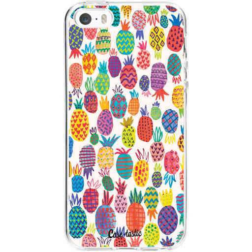 Casetastic Softcover Apple iPhone 5 / 5s / SE - Happy Pineapples