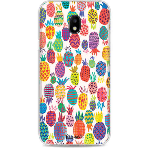 Casetastic Softcover Samsung Galaxy J3 (2017)  - Happy Pineapples