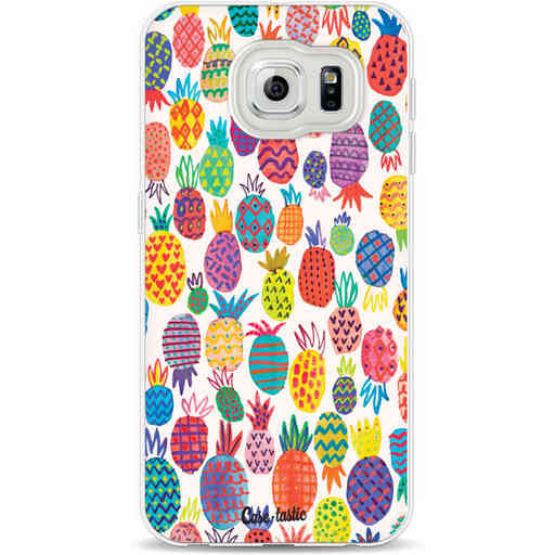Casetastic Softcover Samsung Galaxy S6 - Happy Pineapples