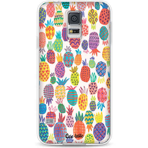 Casetastic Softcover Samsung Galaxy S5  - Happy Pineapples