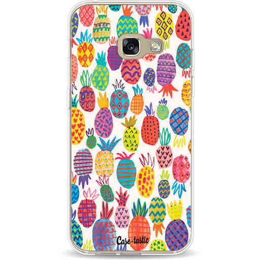 Casetastic Softcover Samsung Galaxy A3 (2017)  - Happy Pineapples