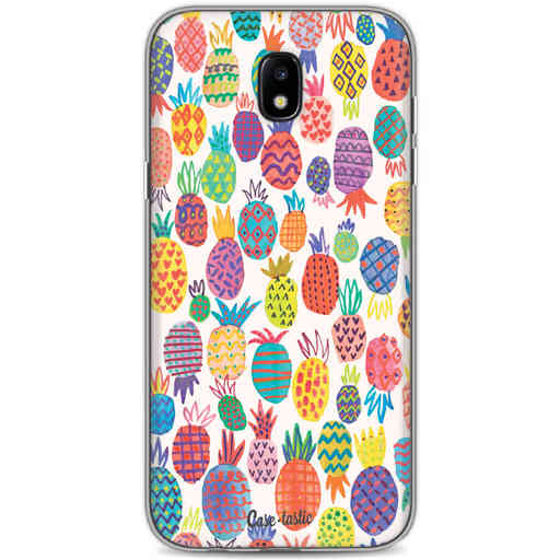 Casetastic Softcover Samsung Galaxy J5 (2017) - Happy Pineapples