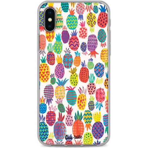 Casetastic Softcover Apple iPhone X / XS - Happy Pineapples