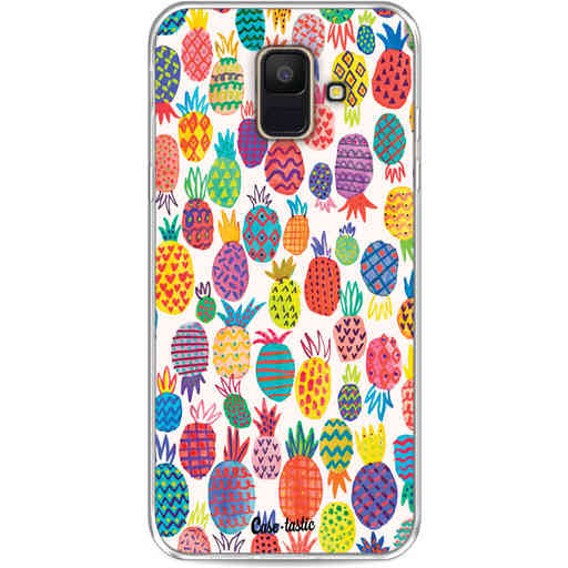 Casetastic Softcover Samsung Galaxy A6 (2018) - Happy Pineapples
