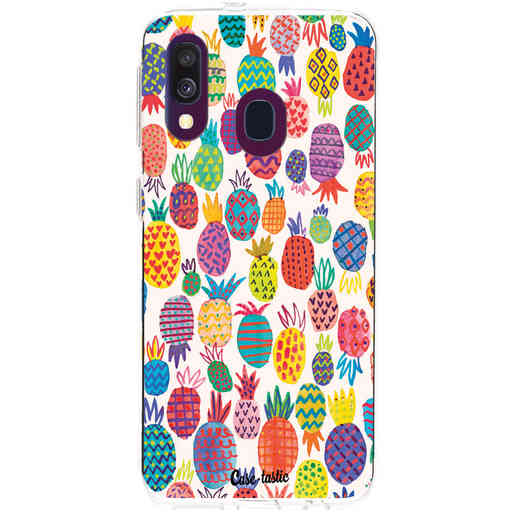 Casetastic Softcover Samsung Galaxy A40 (2019) - Happy Pineapples