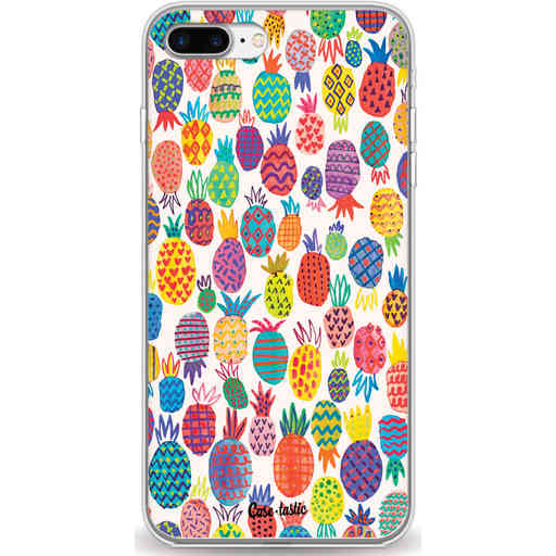 Casetastic Softcover Apple iPhone 7 Plus / 8 Plus - Happy Pineapples