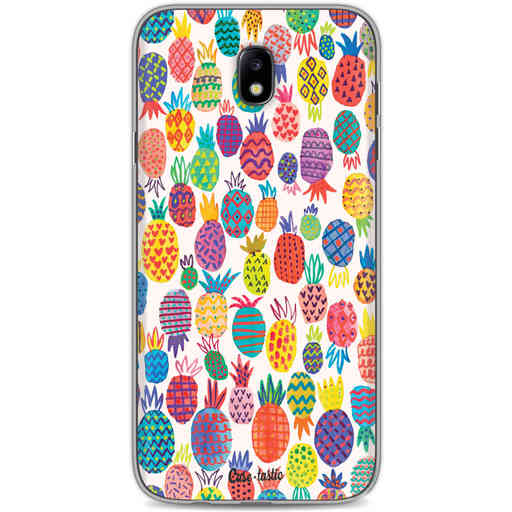 Casetastic Softcover Samsung Galaxy J7 (2017) - Happy Pineapples