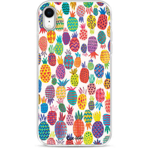 Casetastic Softcover Apple iPhone XR - Happy Pineapples