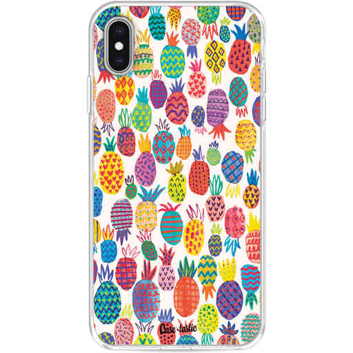 Casetastic Softcover Apple iPhone XS Max - Happy Pineapples