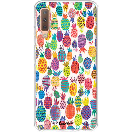 Casetastic Softcover Samsung Galaxy A7 (2018) - Happy Pineapples