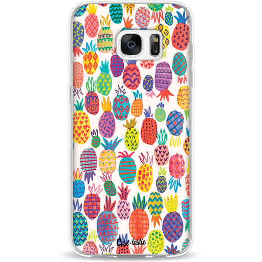 Casetastic Softcover Samsung Galaxy S7 Edge - Happy Pineapples