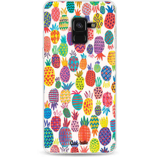 Casetastic Softcover Samsung Galaxy A8 (2018) - Happy Pineapples
