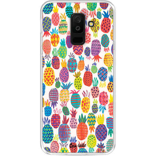 Casetastic Softcover Samsung Galaxy A6 Plus (2018) - Happy Pineapples