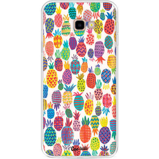 Casetastic Softcover Samsung Galaxy J4 Plus (2018) - Happy Pineapples