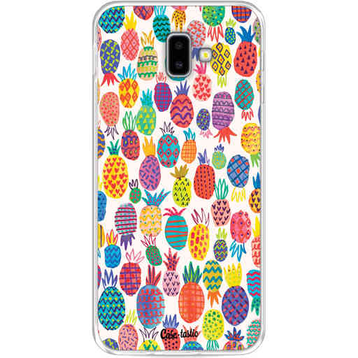 Casetastic Softcover Samsung Galaxy J6 Plus (2018) - Happy Pineapples