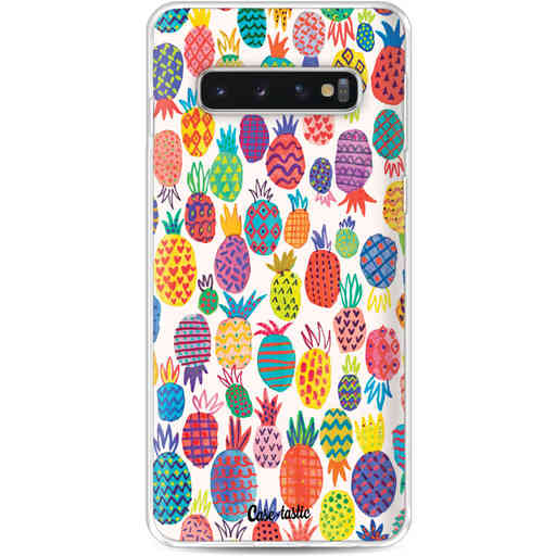 Casetastic Softcover Samsung Galaxy S10 - Happy Pineapples