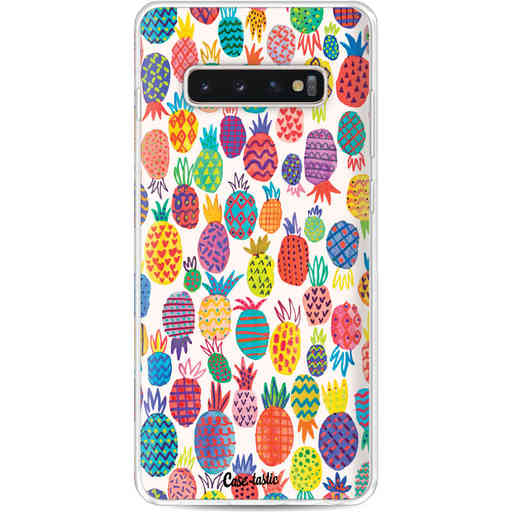 Casetastic Softcover Samsung Galaxy S10 Plus - Happy Pineapples