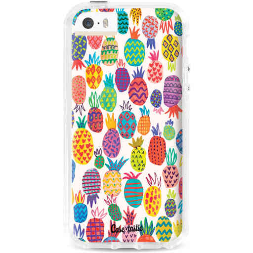 Casetastic Dual Snap Case Apple iPhone 5 / 5s / SE - Happy Pineapples