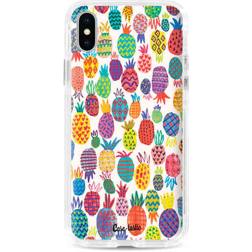 Casetastic Dual Snap Case Apple iPhone X / XS - Happy Pineapples