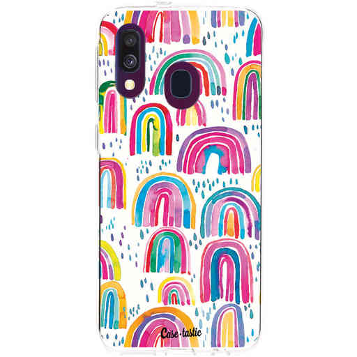 Casetastic Softcover Samsung Galaxy A40 (2019) - Sweet Candy Rainbows
