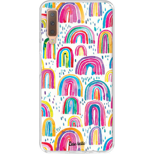 Casetastic Softcover Samsung Galaxy A7 (2018) - Sweet Candy Rainbows