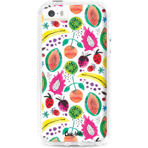 Casetastic Dual Snap Case Apple iPhone 5 / 5s / SE - Tropical Fruits