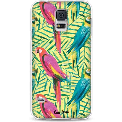 Casetastic Softcover Samsung Galaxy S5  - Tropical Parrots
