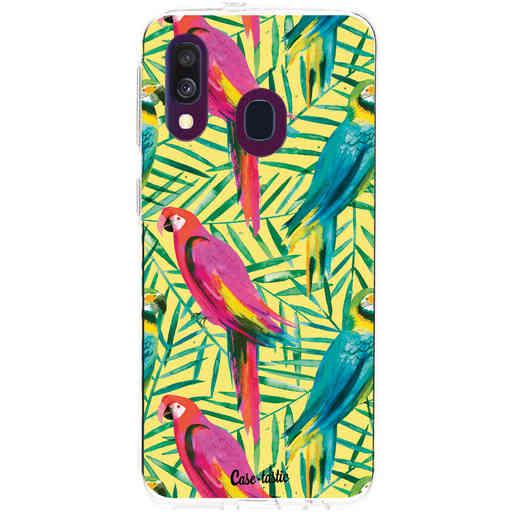 Casetastic Softcover Samsung Galaxy A40 (2019) - Tropical Parrots