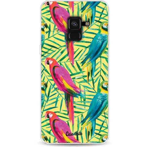 Casetastic Softcover Samsung Galaxy A8 (2018) - Tropical Parrots