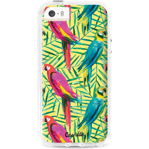 Casetastic Dual Snap Case Apple iPhone 5 / 5s / SE - Tropical Parrots