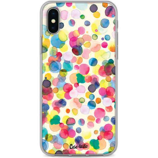 Casetastic Softcover Apple iPhone X / XS - Watercolor Confetti