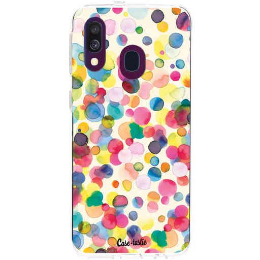 Casetastic Softcover Samsung Galaxy A40 (2019) - Watercolor Confetti