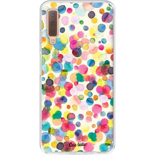 Casetastic Softcover Samsung Galaxy A7 (2018) - Watercolor Confetti