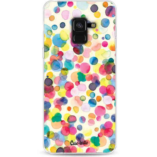 Casetastic Softcover Samsung Galaxy A8 (2018) - Watercolor Confetti