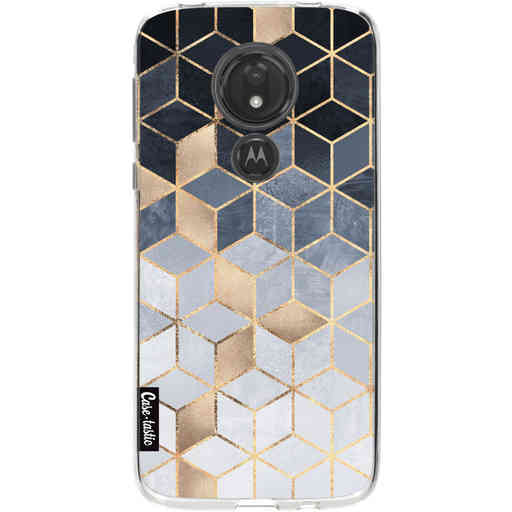 Casetastic Softcover Motorola Moto G7 Power - Soft Blue Gradient Cubes
