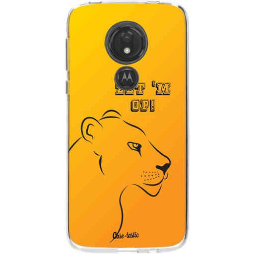 Casetastic Softcover Motorola Moto G7 Power - Oranje Leeuwinnen,  zet 'm op!